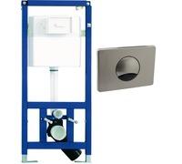 Bezdotykowy zestaw toaletowy przeznaczony do zabudowy podtynkowej lekkiej.